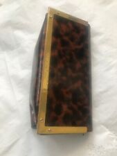 TORY BURCH Brown Tortoise Print Sunglass Eyeglass Case or MakeUp Bag Clutch