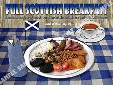 L'intera COLAZIONE scozzese Diner CUCINA: CASA ARREDAMENTO: IDEALE REGALO metallo segno