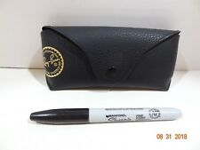 New Ray Ban Classic Black Sunglass / Glass Glasses Case w/ Cleaning Cloth