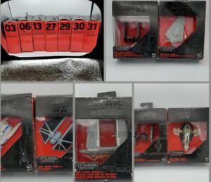Lot of 7 Star Wars Black Series Titanium Vehicles - Sealed in damaged boxes