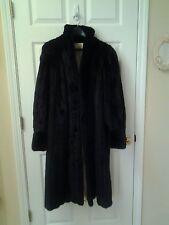 Black full length striped mink coat, Size 12  beautiful