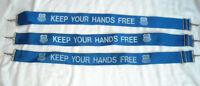 3 Union Pacific Railroad Nylon Hands Free Safety Straps Metal End Clip Blue