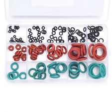 170PCS NBR VMQ FKM Silicone Gasket O Ring Washer Seals Assortment Heat Resistant
