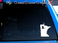 Minnesota Duck Hunting State Vinyl Decal Sticker/ Color-HIGH QUALITY