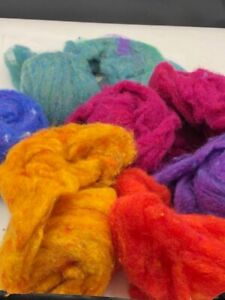 Lot of Needle Felting Materials-Color Variety