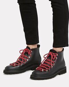 $325 RAG & BONE Compass Rain Boot Combat Hiking Ankle Black light rubber 37 7 BN