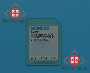 Siemens MICRO Memory Card 6ES7953-8LF30-0AA0 MMC 83FB3027 64KB