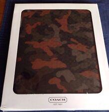 COACH Molded iPad Case  Camouflage  64219 NIB