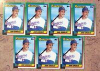 1990 - Topps #331 - Juan Gonzalez Rookie RC - Texas Rangers - 7ct Card Lot