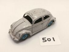 VINTAGE DINKY TOYS # 181 VOLKSWAGEN VW BEETLE OVAL DIECAST CAR GREY/BLUE 1956
