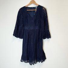 NWT ModCloth Navy Blue Through the Bluebells Lace Dress XXS