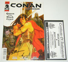 Conan the Barbarian #1 signed by brian wood & becky cloonan - dark horse comics