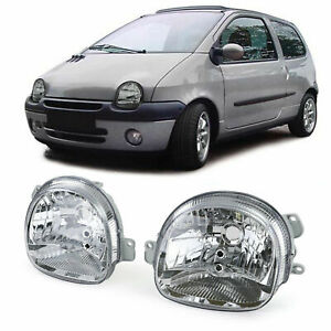 CLEAR HEADLIGHTS HEADLAMPS FOR RENAULT TWINGO 1993-2007 MODEL