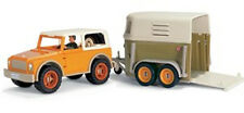 *NEW* SCHLEICH 42025 Pick Up Car with Driver & 40185 Horse Box Float Trailer