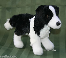 "Douglas Meadow BORDER COLLIE 8"" Plush Stuffed Puppy Dog Cuddle Toy NEW"