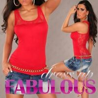 SEXY WOMEN'S TOP Size 6 8 10 LADIES SINGLET CASUAL CLUBBING EVENING SHIRT XS S M