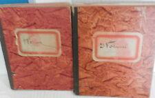 RACCOLTA DI POESIE MANOSCRITTE POLA 1939 Due volumi Fascismo Letteratura di e