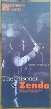The Prisoner of Zenda programme Greenwich Theatre 1992 Nicholas Gecks David Haig