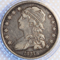 1831 CAPPED BUST QUARTER, CHOICE ORIGINAL, TOUGH EARLY TYPE, LOOKS GREAT!
