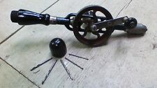 Vintage Millers Falls No. 5 Hand Drill. Egg Beater drill Old tools 5 bits, NICE!