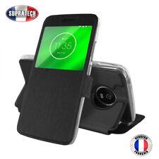 Etui Rabattable Noir Avec Ouverture Ecran pour Motorola Moto G6