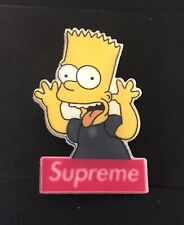 Bart Simpson x Supreme Acrylic Backpack Lapel Pin - Free Shipping! Please Read