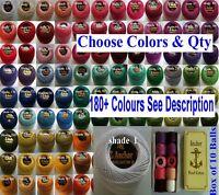 10 Anchor Pearl Cotton Balls size 8 Choose colours send message Crochet Thread