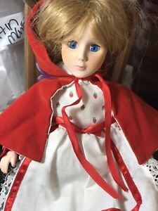 "Vintage PLAYTOWN USA Little Red Riding Hood 12"" Porcelain Doll 1984"
