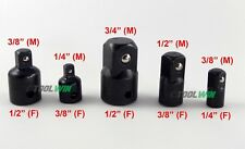 """Air Impact Reducer Adapter Socket 3/4"""" 1/2"""" 3/8"""" 1/4 inch Drive Wrench Set"""