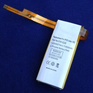 Batterie Li-Polymer 650mAh für Apple Ipod Classic 6th Gen (80GB) MB147LL/A
