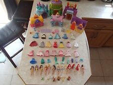 Disney Princess Polly Pocket Dolls Castles Stables Playsets Little Kingdom LOT