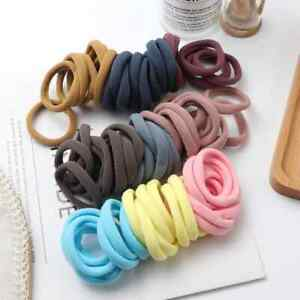 50pcs Girl Solid Color Big Rubber Band Ponytail Holder Style Fashion Beauty Hair