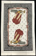 Country Western Cowboy Boots Kitchen Dish Tea Towel NWOT (RF878)