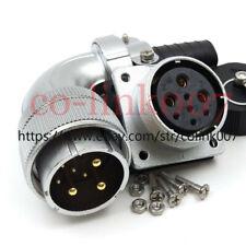 WS32 8pin Power Connector,Aviation Bulkhead Plug Socket LED Plug 90° Connector