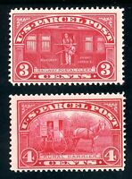 USAstamps Unused FVF US 1913 Parcel Post Scott Q3, Q4 OG MHR