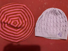 American Girl Pink Red Striped Beret And Pretty In Plaid Hat For Girls Knitted