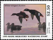 MAINE #12 1995 STATE DUCK STAMP WHITE WINGED SCOTER  by Richard Alley