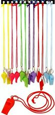 12pc Colourful Football Whistle Referee School Sports Dog training Party Bags UK