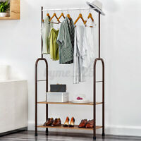 Garment Clothes Rack Stand Hanger Hanging Organiser Metal Closet Storage Holder