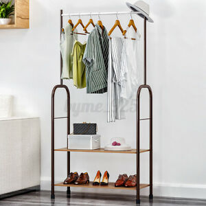 Garment Clothes Rack Stand Hanger Hanging Organiser Metal Closet Storage Holder