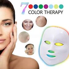 7 Color Light Photon LED Face Mask Rejuvenation Skin Facial Therapy Wrinkle