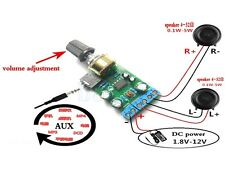 DC1.8-12V Dual Canal Módulo Amplificador Board Estéreo Audio AUX TDA2822M SA