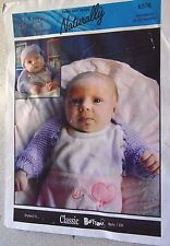 The Kids Collection Naturally knitting pattern Leafllet no.K576 Baby hat & shrug