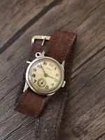 Pobeda Wristwatch Red Twelve 12 Soviet Mechanical Vintage 1953 Q3 Watch