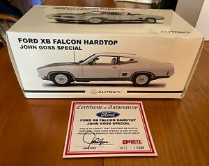 BIANTE Ford XB Falcon Hardtop 'Emerald Fire' John Goss.1:18 EMPTY BOX +Cert.