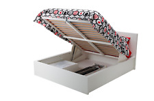 IKEA MALM Struttura letto con contenitore, bianco matrimoniale 160x200