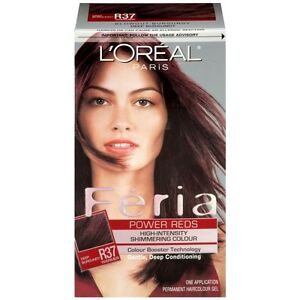 L'Oreal Feria High-Intensity Shimmering Color - Deep Burgundy R37*Twin Pack*