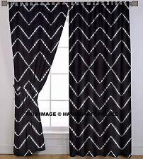 Indian Cotton Tie Dye Shibori Curtains Ethnic Window Door Hanging Bohemian Set