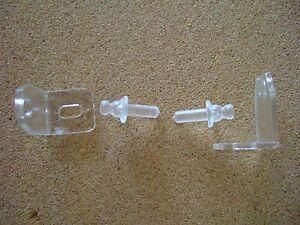 SLIMLINE VENETIAN 25mm RAIL BLIND BOTTOM HOLD DOWN CLIPS / BRACKETS PIN REG POST