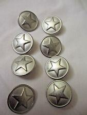 "50 Classic Military Star Buttons w//Imitation GreyTortoise Shell 23mm 7//8/"""